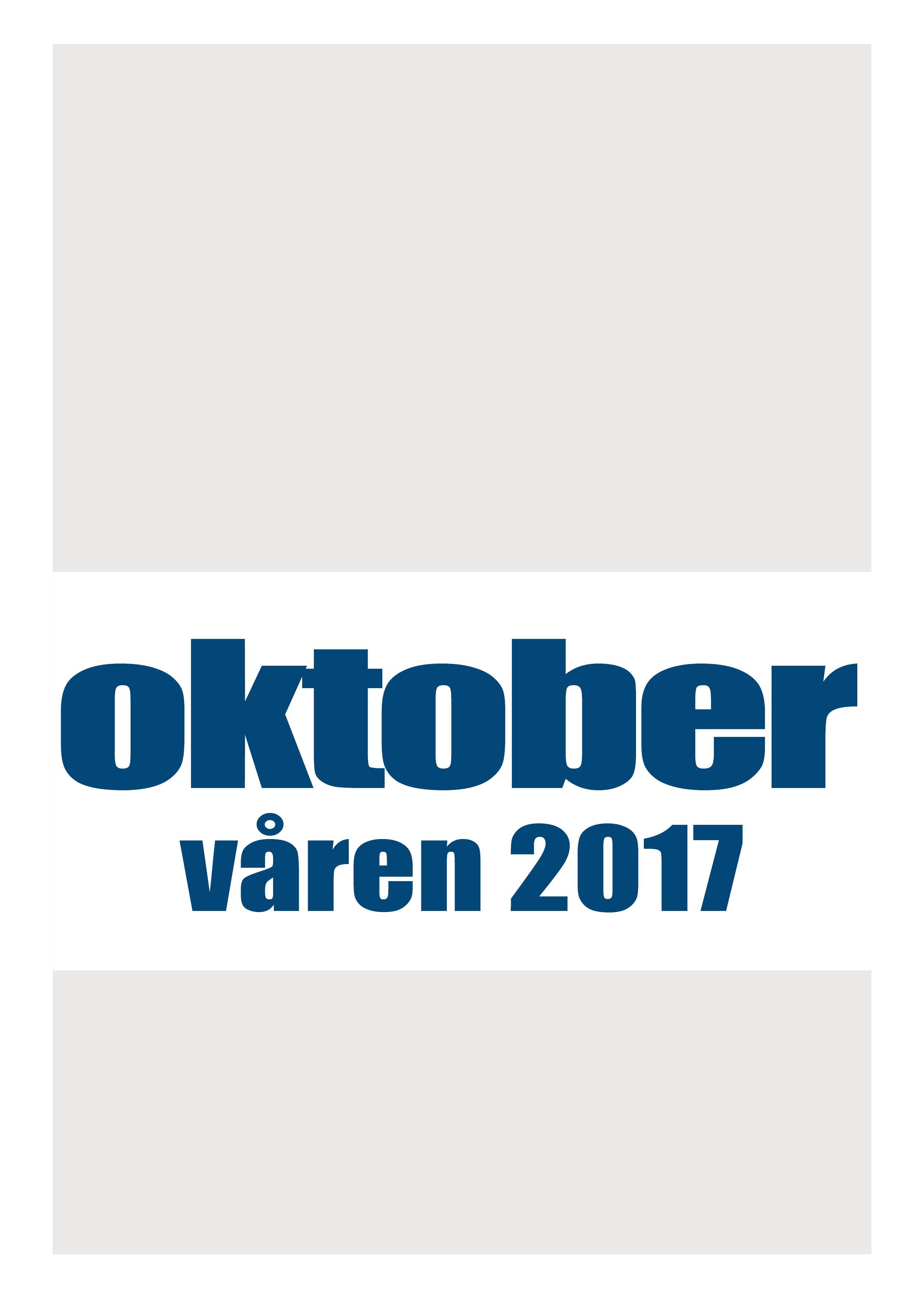 Katalog over Oktobers utgivelser 2017