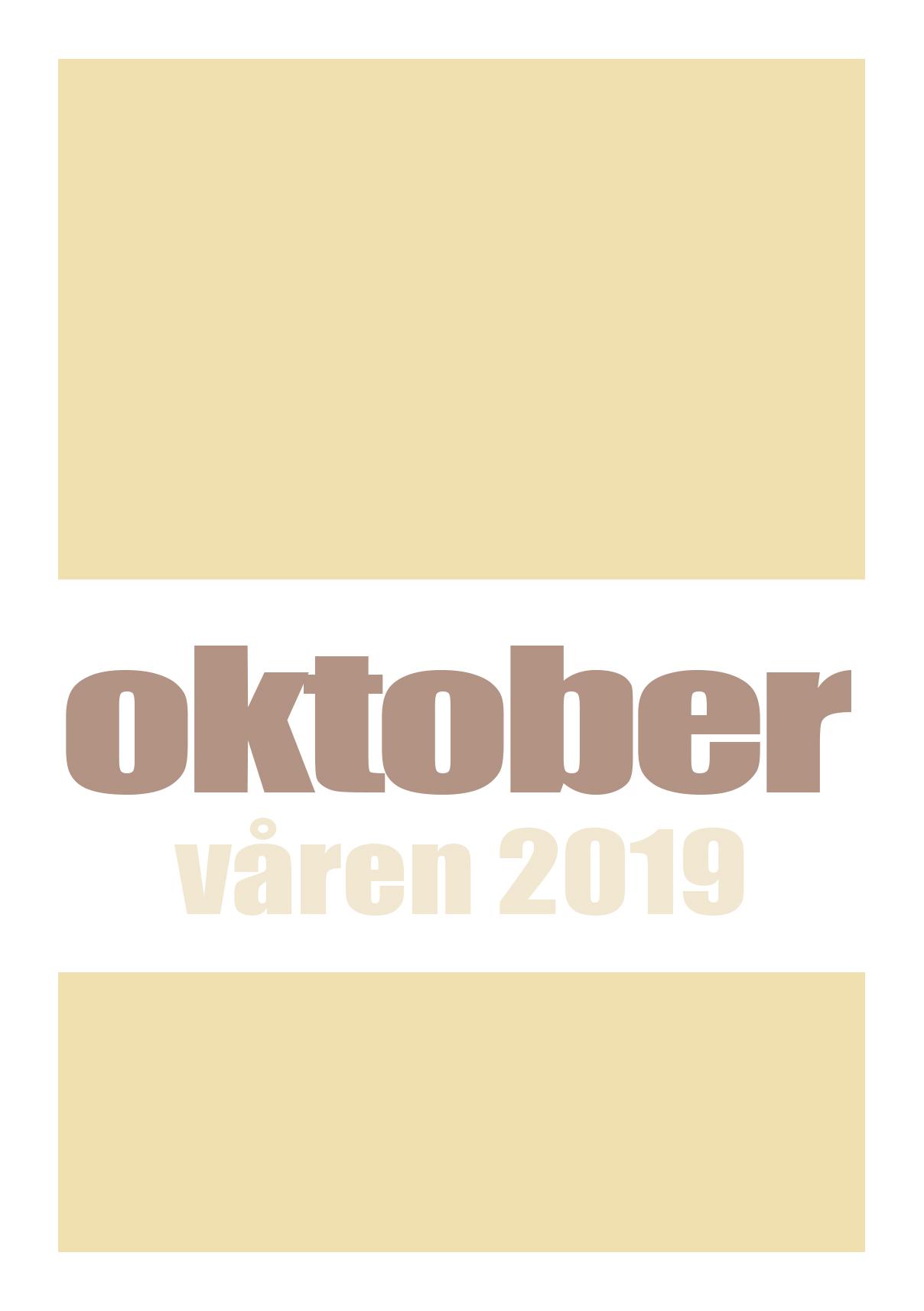 Katalog over oktobers bøker våren 2019
