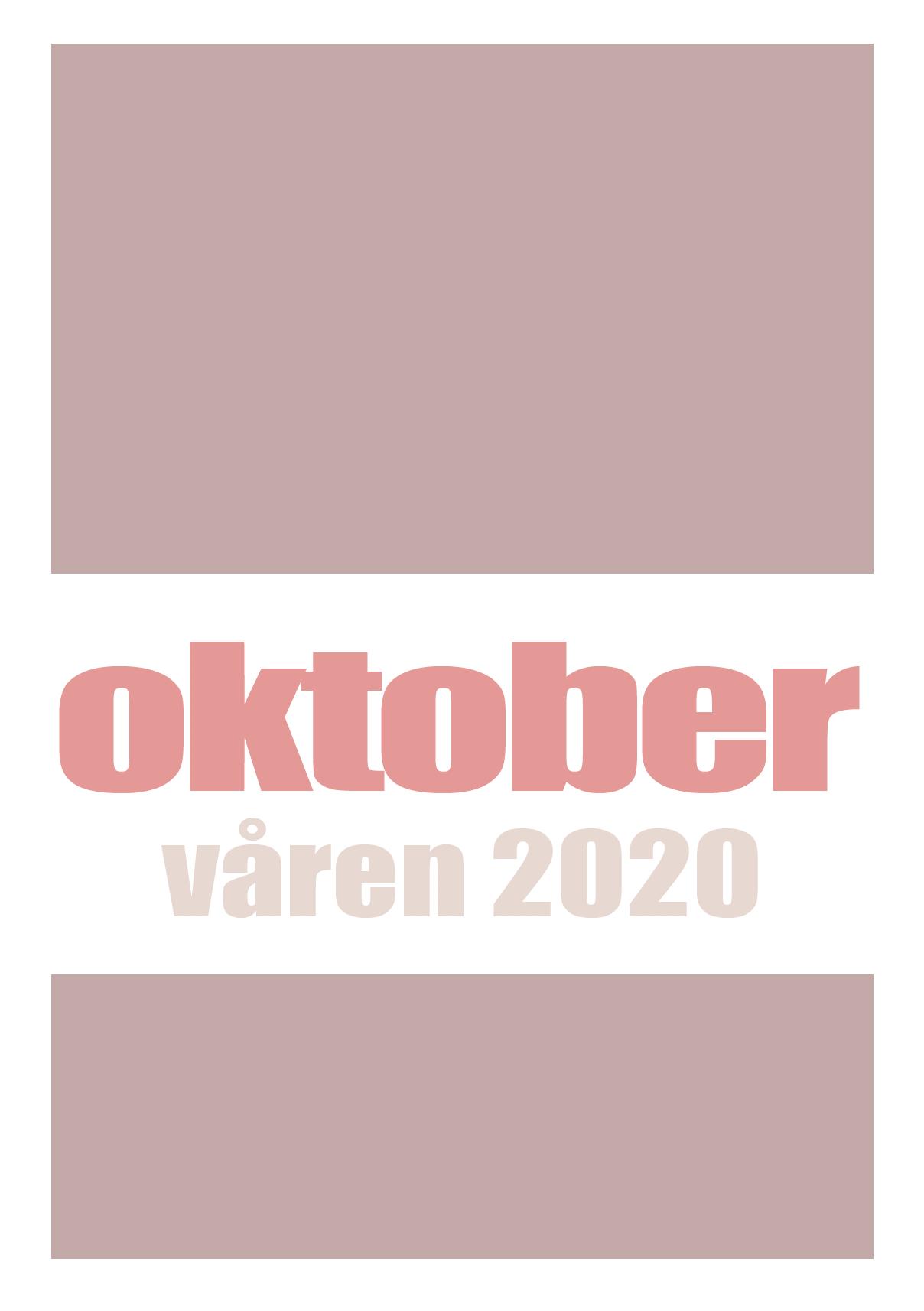 Katalog over Oktobers bøker 2020
