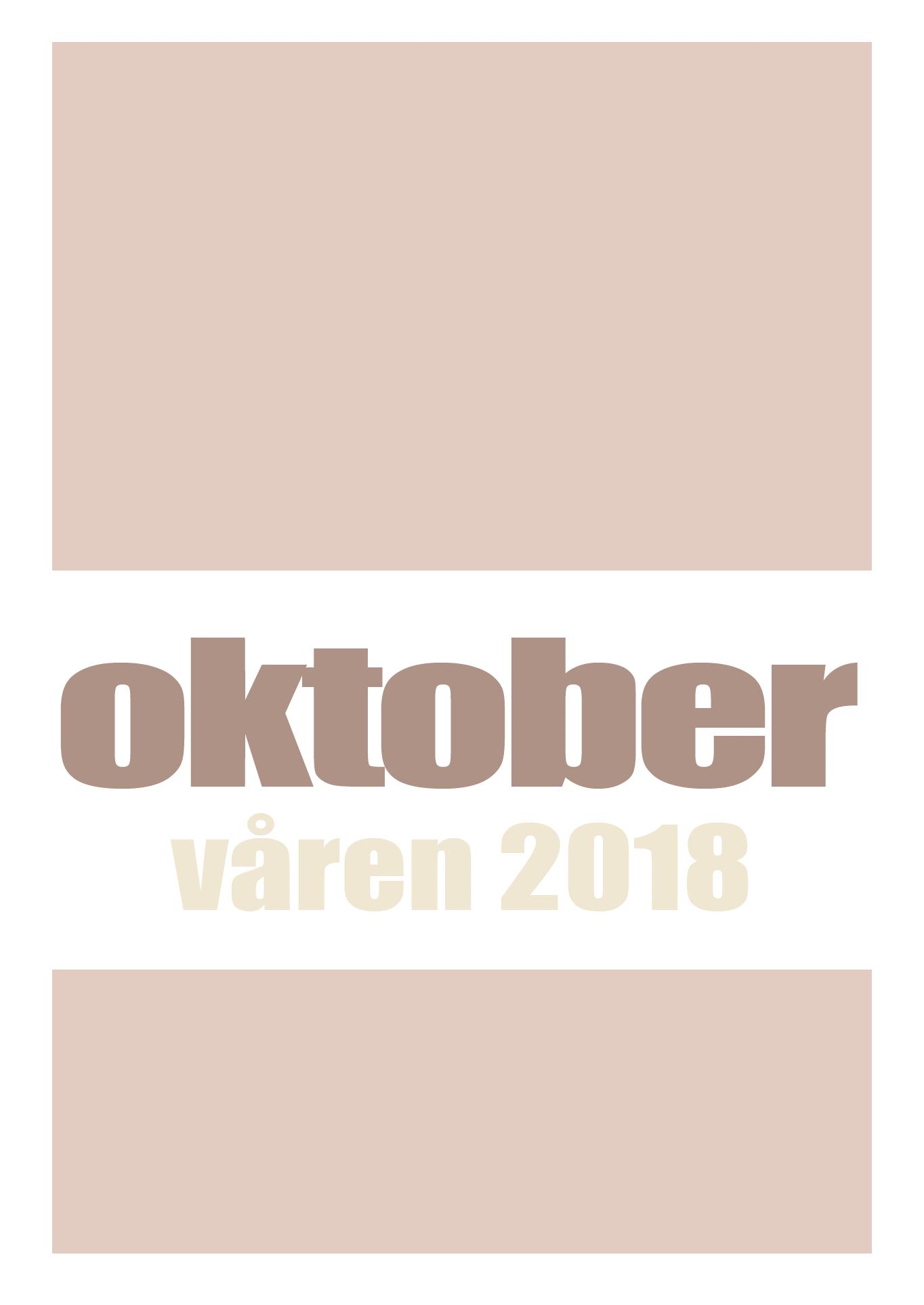Katalog over Oktobers utgivelser våren 2018